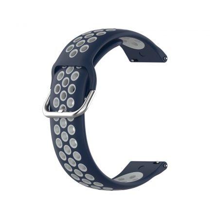 RMPACK Samsung Galaxy Watch 3 45mm Okosóra Szíj Pótszíj Óraszíj Hollow Style Sötétkék/Szürke