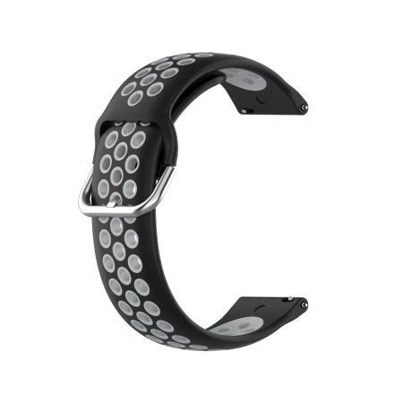 RMPACK Samsung Galaxy Watch 3 41mm Okosóra Szíj Pótszíj Óraszíj Hollow Style Fekete/Szürke