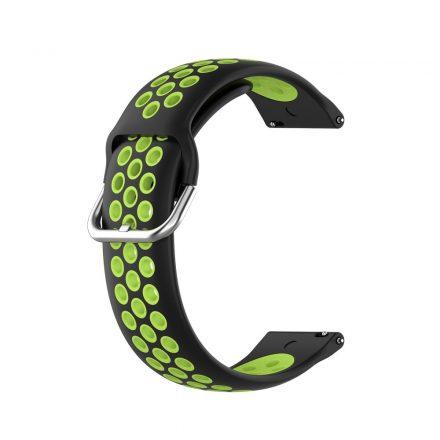 RMPACK Samsung Galaxy Watch 3 41mm Okosóra Szíj Pótszíj Óraszíj Hollow Style Fekete/Zöld