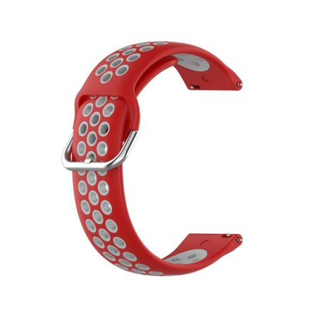 RMPACK Samsung Galaxy Watch 3 41mm Okosóra Szíj Pótszíj Óraszíj Hollow Style Piros/Szürke