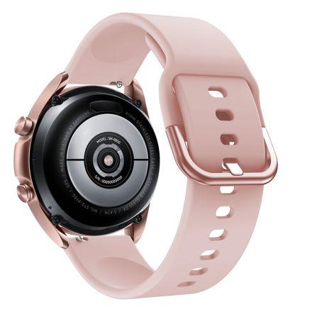 RMPACK Samsung Galaxy Watch 3 41mm Óraszíj Pótszíj Okosóra Szíj Szilikon Nature Rózsaszín