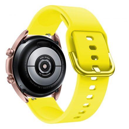 RMPACK Samsung Galaxy Watch 3 41mm Óraszíj Pótszíj Okosóra Szíj Szilikon Nature Sárga