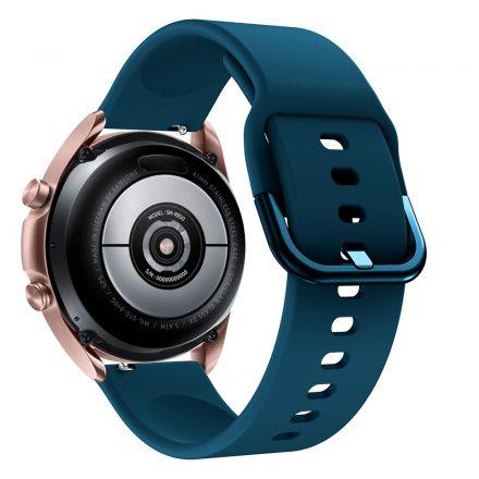 RMPACK Samsung Galaxy Watch 3 41mm Óraszíj Pótszíj Okosóra Szíj Szilikon Nature SötétZöld