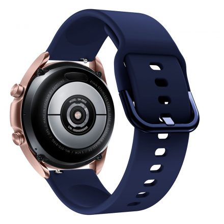 RMPACK Samsung Galaxy Watch 3 41mm Óraszíj Pótszíj Okosóra Szíj Szilikon Nature SötétKék