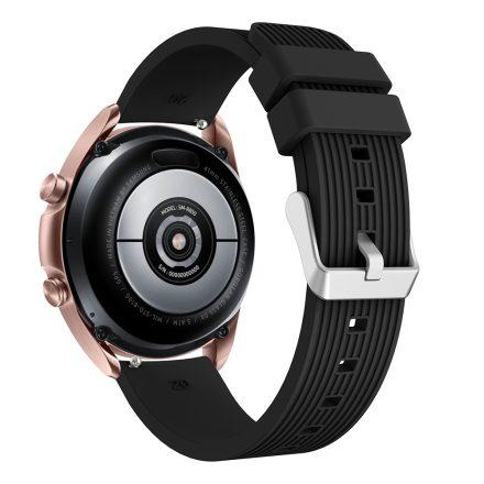 RMPACK Samsung Galaxy Watch 3 41mm Pótszíj Okosóra Szíj Óraszíj Szilikon Sport Style Fekete
