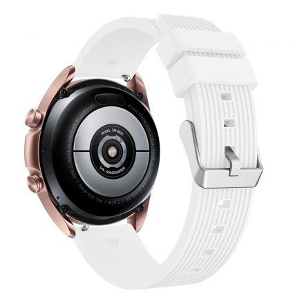 RMPACK Samsung Galaxy Watch 3 41mm Pótszíj Okosóra Szíj Óraszíj Szilikon Sport Style Fehér