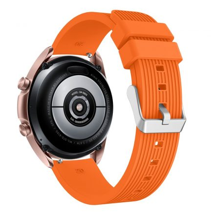 RMPACK Samsung Galaxy Watch 3 41mm Pótszíj Okosóra Szíj Óraszíj Szilikon Sport Style Narancssárga