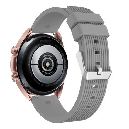 RMPACK Samsung Galaxy Watch 3 41mm Pótszíj Okosóra Szíj Óraszíj Szilikon Sport Style Szürke