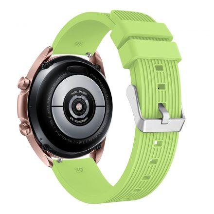 RMPACK Samsung Galaxy Watch 3 41mm Pótszíj Okosóra Szíj Óraszíj Szilikon Sport Style Zöld