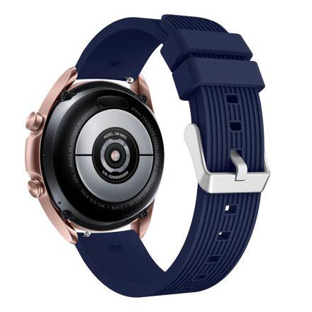 RMPACK Samsung Galaxy Watch 3 41mm Pótszíj Okosóra Szíj Óraszíj Szilikon Sport Style Sötétkék