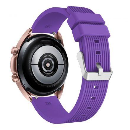 RMPACK Samsung Galaxy Watch 3 41mm Pótszíj Okosóra Szíj Óraszíj Szilikon Sport Style Lila