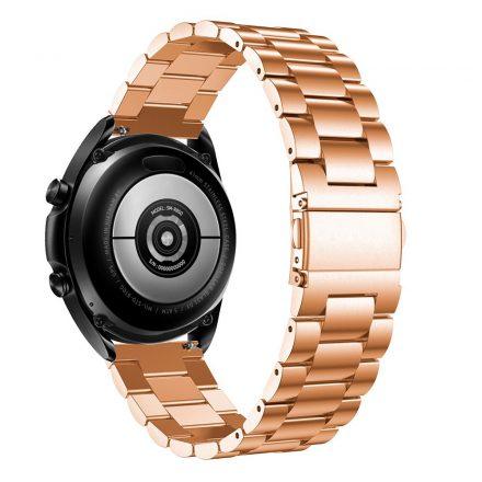 RMPACK Samsung Galaxy Watch 3 45mm Fémszíj Pótszíj Óraszíj Rózsaarany