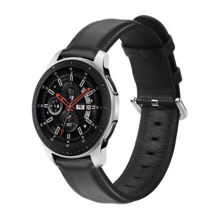 RMPACK Huawei Watch GT GT2 GT 2e Óraszíj Pótszíj 22mm Bőrszíj Style QU Fekete