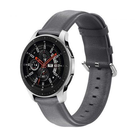 RMPACK Huawei Watch GT GT2 GT 2e Óraszíj Pótszíj 22mm Bőrszíj Style QU Szürke