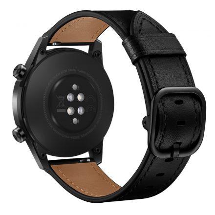RMPACK Huawei Watch GT GT2 GT 2e Watch Magic Pótszíj Bőr Szíj Óraszíj Fekete