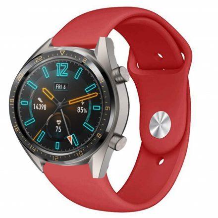 RMPACK Huawei Watch GT Pótszíj Szilikon Óraszíj Soft Series Piros