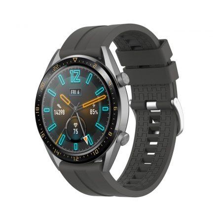 RMPACK Huawei Watch GT 46mm Szilikon Pótszíj Óraszíj Elegant-Sport Series Szürke