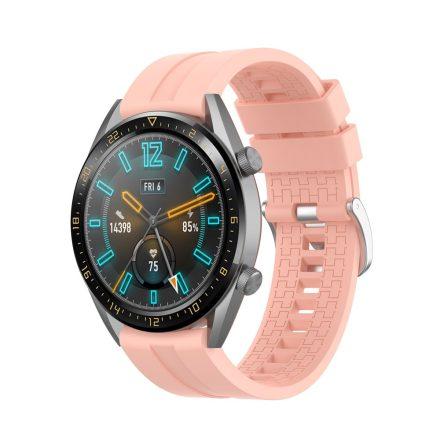 RMPACK Huawei Watch GT 46mm Szilikon Pótszíj Óraszíj Elegant-Sport Series Rózsaszín