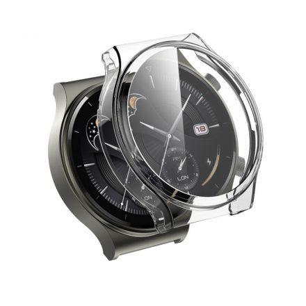 RMPACK Huawei Watch GT 2 Pro / Classic / Sport Védőkeret Áttetsző + Beépített Képernyővédő Üveg