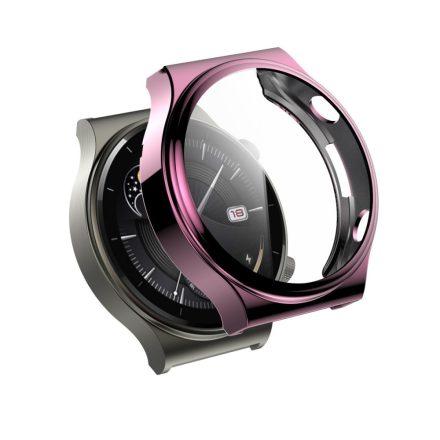 RMPACK Huawei Watch GT 2 Pro / Classic / Sport Védőkeret Rózsaszín + Beépített Képernyővédő Üveg