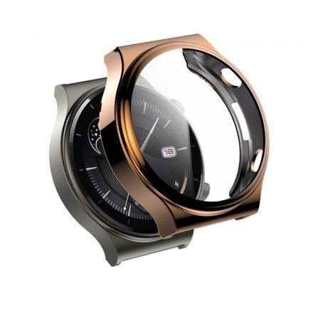 RMPACK Huawei Watch GT 2 Pro / Classic / Sport Védőkeret Rózsaarany + Beépített Képernyővédő Üveg