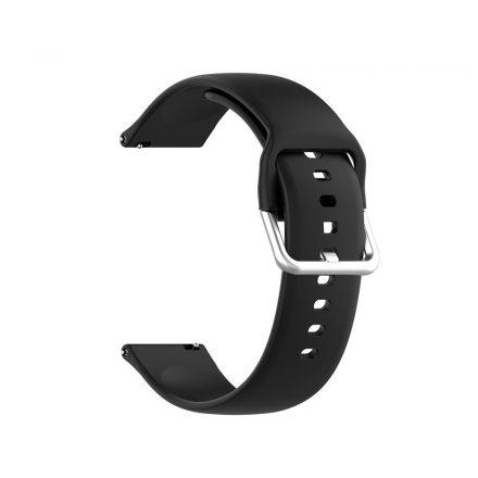 RMPACK Huawei Watch GT 2 Pro Pótszíj Óraszíj Szilikon ( S ) Méret 22mm Elegant Series Fekete