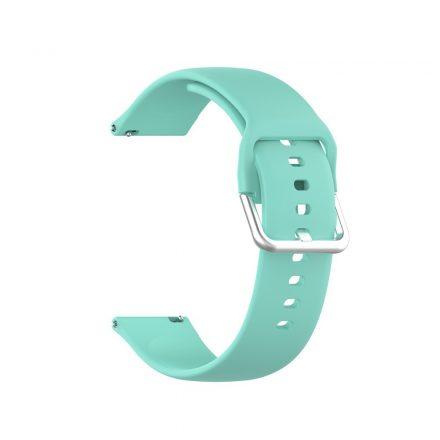 RMPACK Huawei Watch GT 2 Pro Pótszíj Óraszíj Szilikon ( S ) Méret 22mm Elegant Series Cián