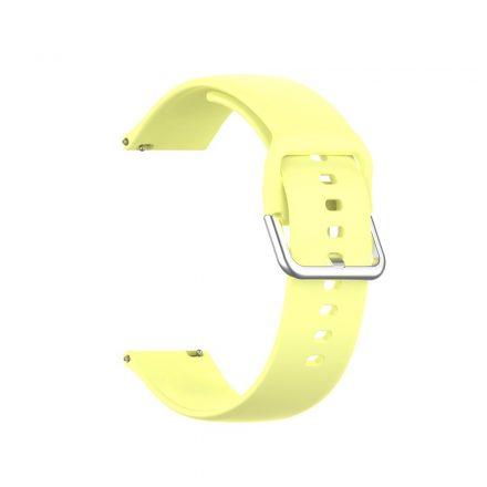 RMPACK Huawei Watch GT 2 Pro Pótszíj Óraszíj Szilikon ( L ) Méret 22mm Elegant Series Sárga