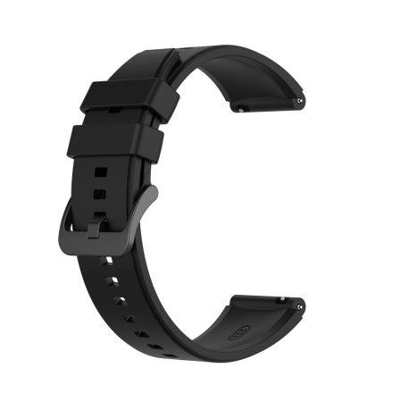RMPACK Huawei Watch GT 2 Pro Szilikon Óraszíj Pótszíj Prémium 22mm Fekete
