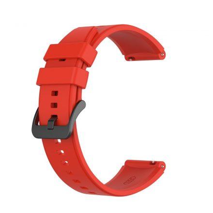 RMPACK Huawei Watch GT 2 Pro Szilikon Óraszíj Pótszíj Prémium 22mm Piros