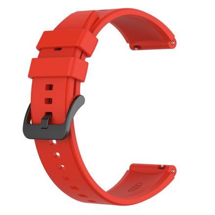 RMPACK Huawei Watch 3 / Watch 3 Pro Pótszíj Szilikon Óraszíj 22mm Piros