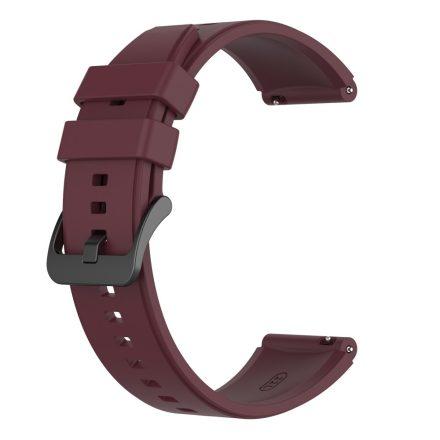 RMPACK Huawei Watch 3 / Watch 3 Pro Pótszíj Szilikon Óraszíj 22mm Bordó
