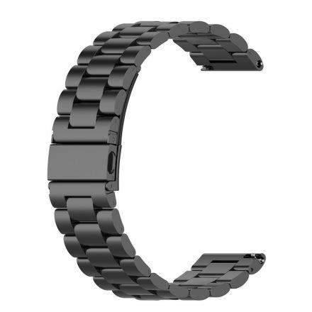 RMPACK Huawei Watch 3 / Watch 3 Pro Fém Pótszíj Óraszíj Steel Series Fekete