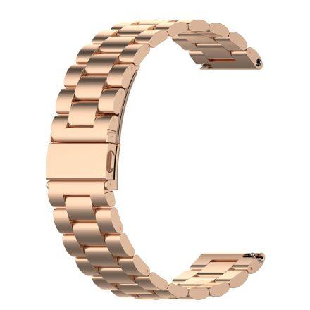 RMPACK Huawei Watch 3 / Watch 3 Pro Fém Pótszíj Óraszíj Steel Series Rózsaarany