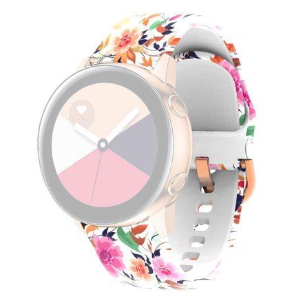 RMPACK Huawei Watch 3 / Watch 3 Pro Szilikon Óraszíj 22mm Mintás Pótszíj SummerSeries A01