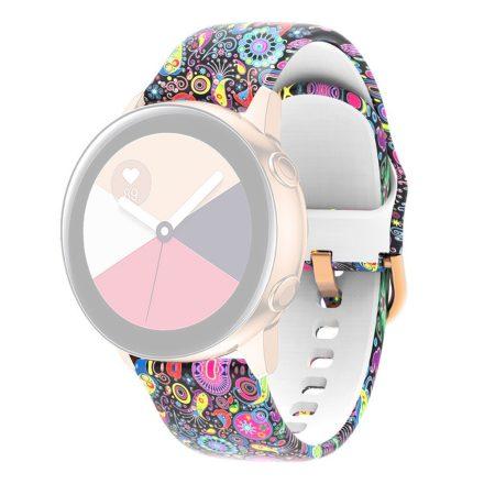 RMPACK Huawei Watch 3 / Watch 3 Pro Szilikon Óraszíj 22mm Mintás Pótszíj SummerSeries A05