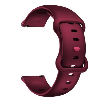RMPACK Huawei Watch 3 / Watch 3 Pro Pótszíj Elegant Óraszíj Szilikon 22mm Bordó