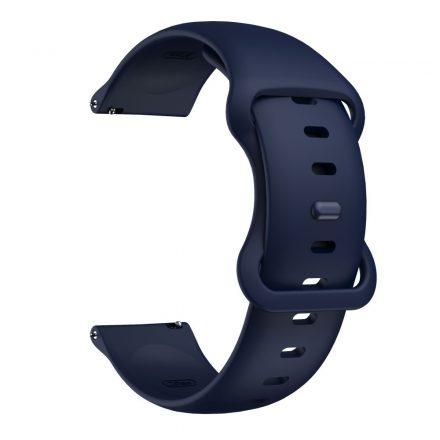 RMPACK Huawei Watch 3 / Watch 3 Pro Pótszíj Elegant Óraszíj Szilikon 22mm Sötétkék