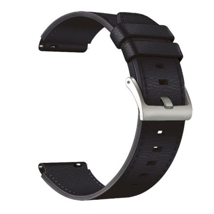 RMPACK Huawei Watch 3 / Watch 3 Pro Bőrszíj Óraszíj Premium Pótszíj 22mm Fekete