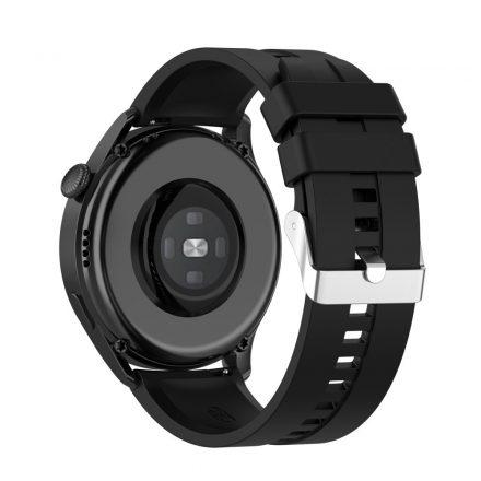 RMPACK Huawei Watch 3 Pro / Watch 3 Óraszíj Pótszíj Sport Style Szilikon Szíj 22mm Fekete