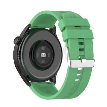 RMPACK Huawei Watch 3 Pro / Watch 3 Óraszíj Pótszíj Sport Style Szilikon Szíj 22mm Zöld