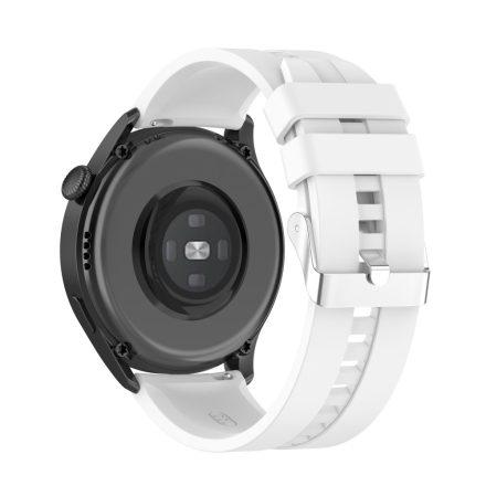 RMPACK Huawei Watch 3 Pro / Watch 3 Óraszíj Pótszíj Sport Style Szilikon Szíj 22mm Fehér