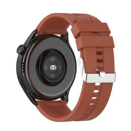 RMPACK Huawei Watch 3 Pro / Watch 3 Óraszíj Pótszíj Sport Style Szilikon Szíj 22mm Barna
