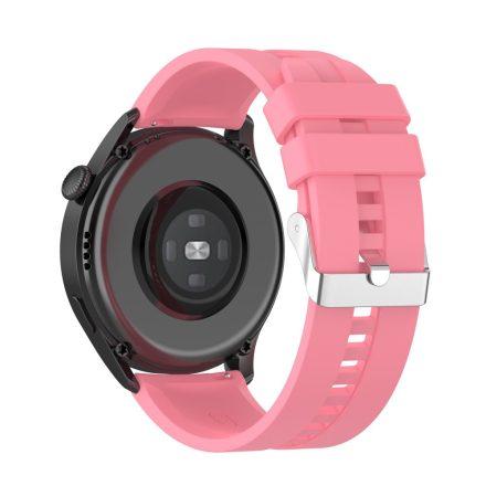 RMPACK Huawei Watch 3 Pro / Watch 3 Óraszíj Pótszíj Sport Style Szilikon Szíj 22mm Rózsaszín