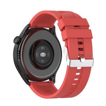 RMPACK Huawei Watch 3 Pro / Watch 3 Óraszíj Pótszíj Sport Style Szilikon Szíj 22mm Piros