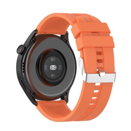 RMPACK Huawei Watch 3 Pro / Watch 3 Óraszíj Pótszíj Sport Style Szilikon Szíj 22mm Narancssárga