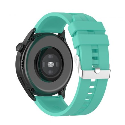 RMPACK Huawei Watch 3 Pro / Watch 3 Óraszíj Pótszíj Sport Style Szilikon Szíj 22mm Cián