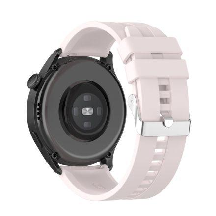 RMPACK Huawei Watch 3 Pro / Watch 3 Óraszíj Pótszíj Sport Style Szilikon Szíj 22mm VilágosRózsaszín