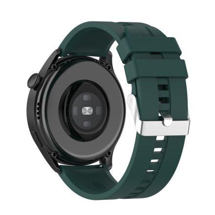RMPACK Huawei Watch 3 Pro / Watch 3 Óraszíj Pótszíj Sport Style Szilikon Szíj 22mm Sötétzöld
