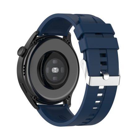 RMPACK Huawei Watch 3 Pro / Watch 3 Óraszíj Pótszíj Sport Style Szilikon Szíj 22mm Sötétkék